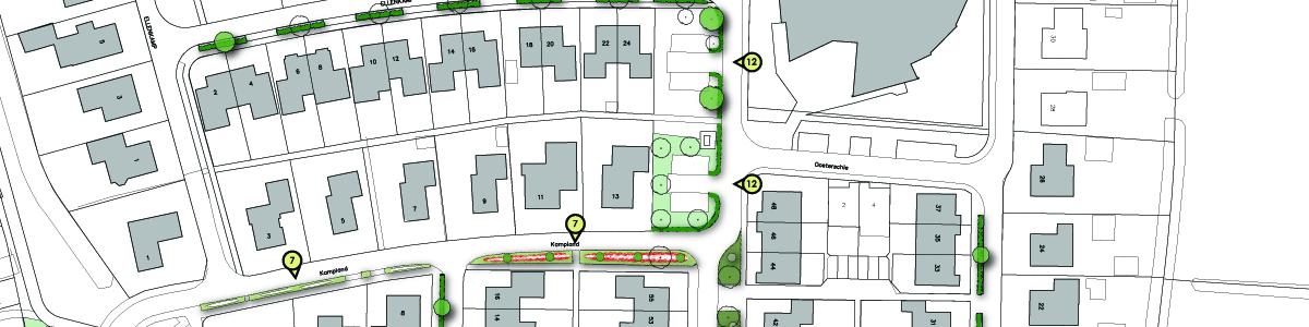 Herinrichtingsplan openbaar groen woonwijk