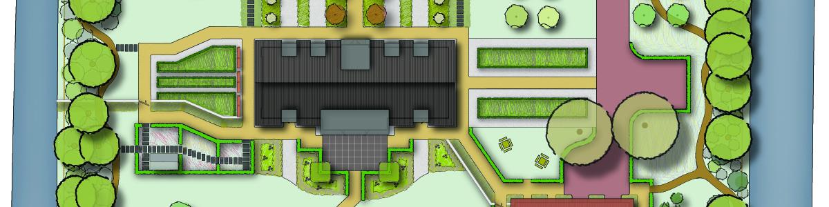Tuinontwerp modern landhuis