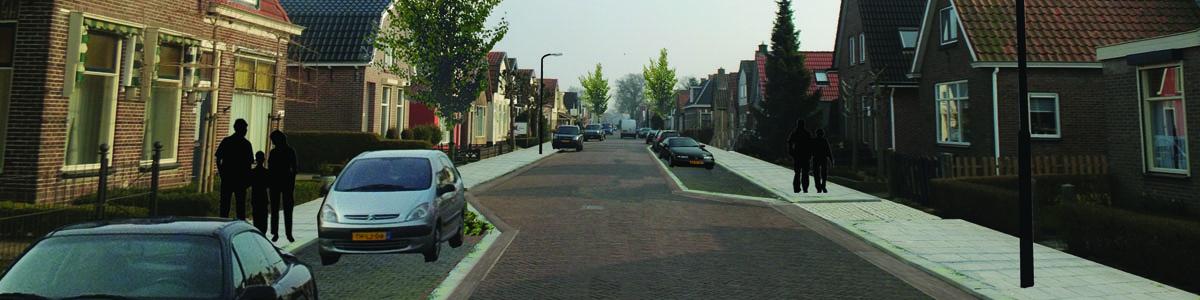 Sfeerbeeld reconstructie straat